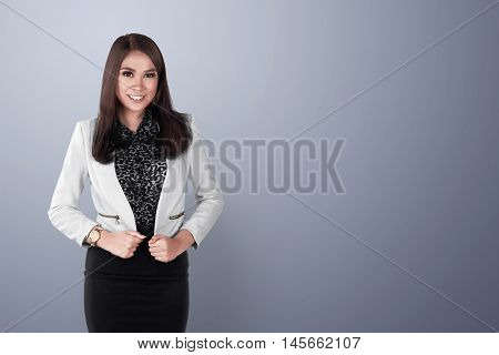 Young And Beauty Asian Business Woman