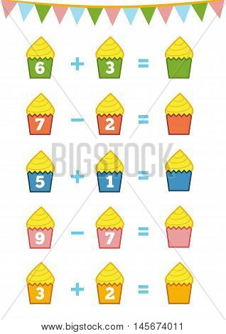 Counting Game. Addition And Subtraction Worksheets