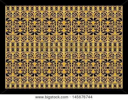 Ornament elements vintage gold floral designs