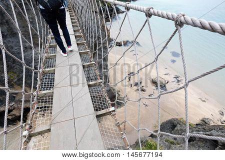 Rope Bridge,northern Ireland