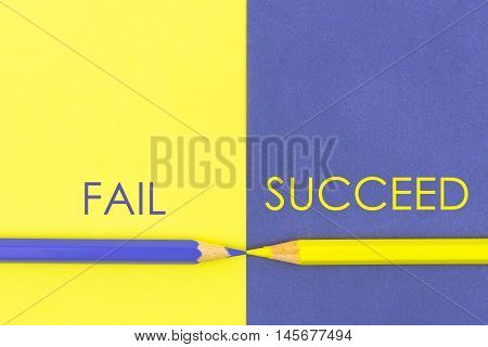 Fail Versus Succeed Contrast Concept