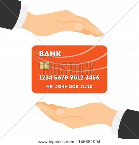 Credit card protection. Safe acces and money protection. Credit card security.