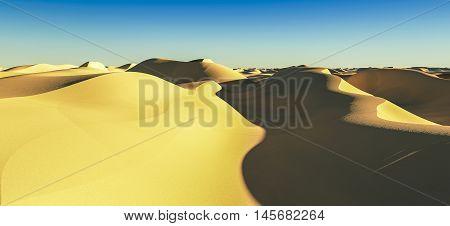 3d rendering of a computer made dessert landscape