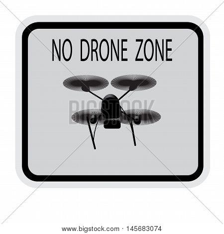 Image drone. Caption no drone zone . Vector illustration