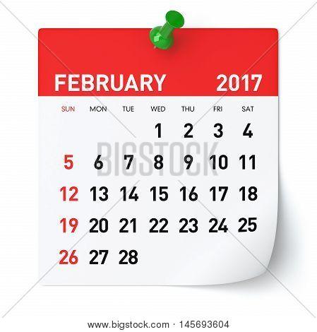 February 2017 - Calendar
