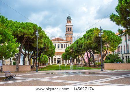 View of La Rotonda, Rovigo, Veneto, Italy