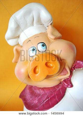 Pig Chef Head
