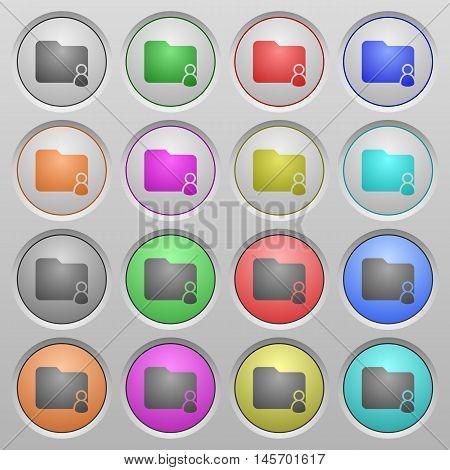 Set of folder owner plastic sunk spherical buttons.