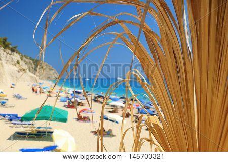 Egremni beach, Lefkada island, Greece.