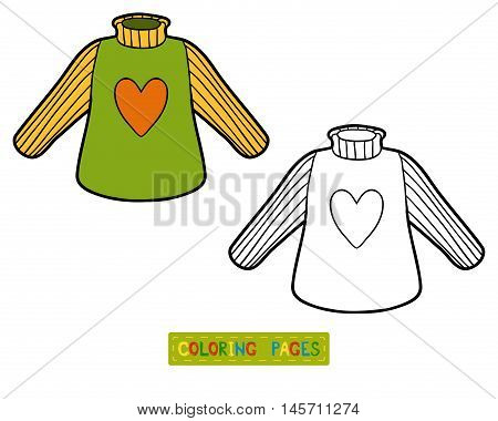 Coloring book for children, Pullover with heart