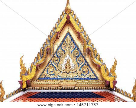 Golden gable chapel with angel thailand style