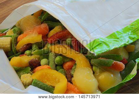 frozen vegetables close up of frozen food frozen food packaging