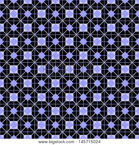 Tile vector pattern or violet blue and black wallpaper background