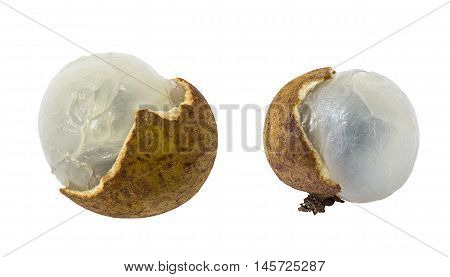 Thailand Longan isolated on white background and clipping path