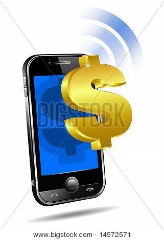 Bezahlen Sie per Handy, Smartphone-Dollar Zelle