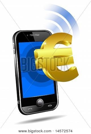 Pay by Mobile, Cell Smart Phone Euro