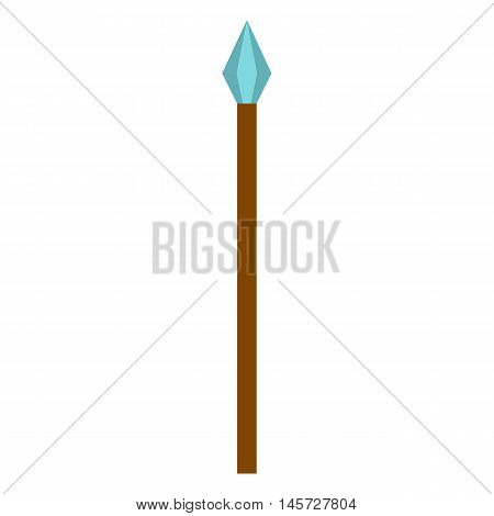 Medieval spear icon in flat style on a white background vector illustration