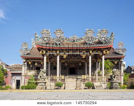 Penang, Malaysia - June 2 2016: Khoo Kongsi Chinese Clan House and temple at George town the UNESCO world heritage site Penang State Malaysia.