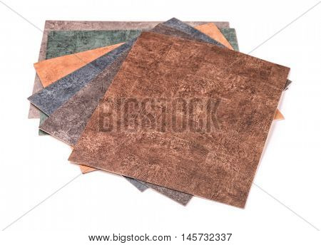 Samples of  linoleum collection isolated on white