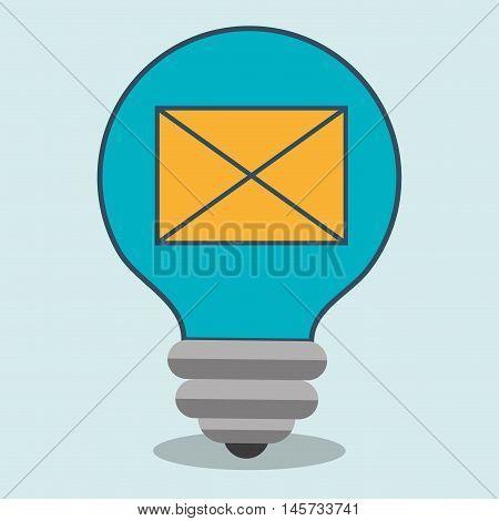 idea envelope message icon vector illustration eps 10