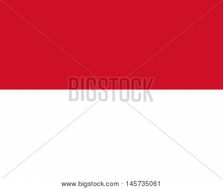 Illustration of the national flag of Monaco