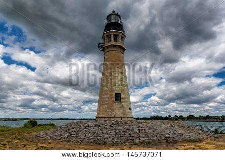 Buffalo Lighthouse on Lake Erie, NY, USA