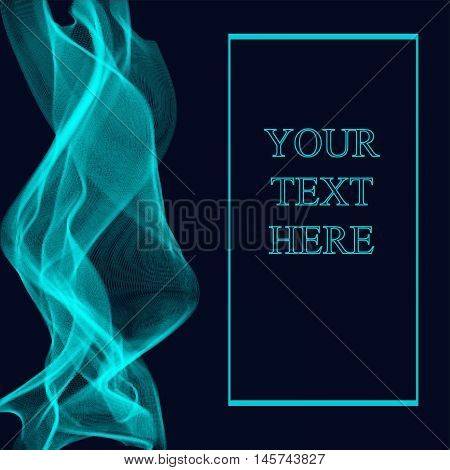 Abstract dack blue background for some text