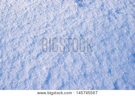 fragment of highly detailed frozen snow field