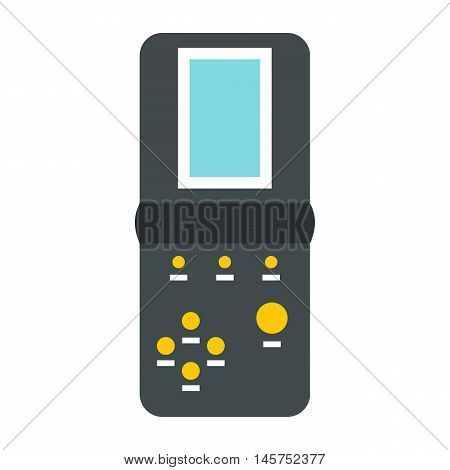 Tetris icon in flat style isolated on white background. Play symbol vector illustration