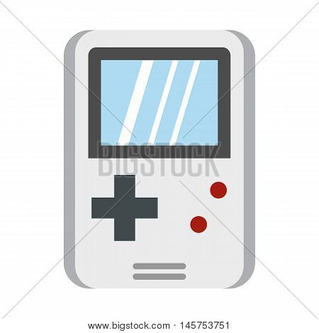 Tetris for games icon in flat style isolated on white background. Play symbol vector illustration