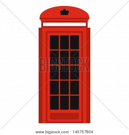Phone booth icon in flat style isolated on white background. Call symbol vector illustration