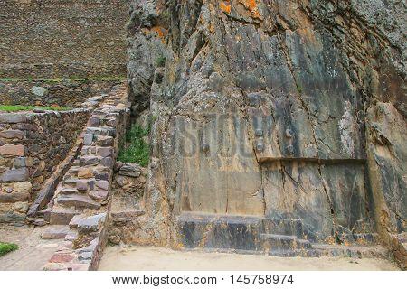 Inca Fortress In Ollantaytambo, Peru