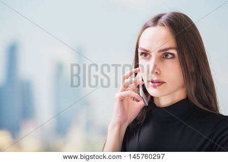 Gorgeous Businesswoman On Phone
