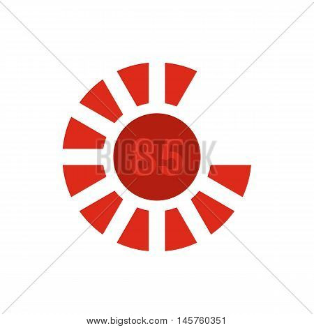 Sign 85 load icon in flat style isolated on white background. Loading symbol vector illustration