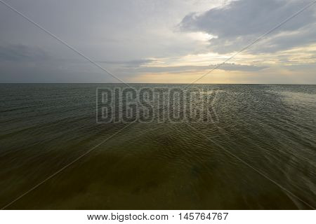 Bay to the west of the Azov Sea. Siwash separates the Crimean peninsula from the mainland.