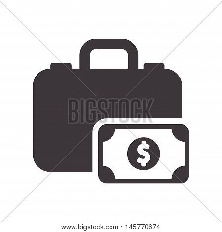suitcase bill bag airplane travel baggage luggage instrument icon. Flat and Isolated design. Vector illustration