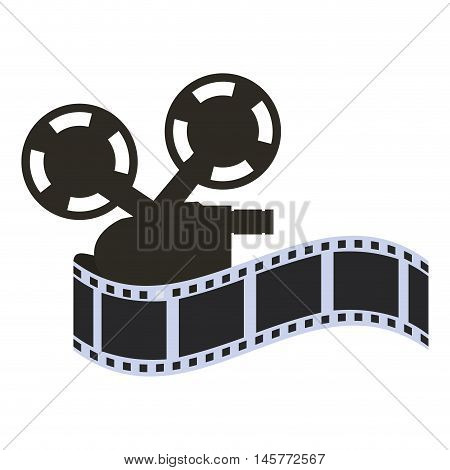 film strip videocamera cinema movie entertainment show icon. Flat and Isolated design. Vector illustration