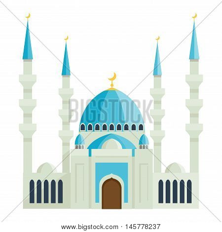 Taj Mahal india agra palace travel architecture temple vector illustration. Taj Mahal architecture tourism monument. Taj Mahal indian religion famous mausoleum.