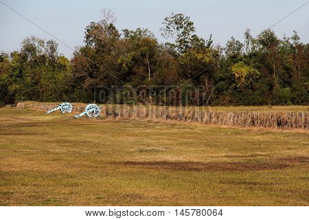 Chalmette Battlefield at the Jean Lafitte National Historical Park and Preserve in New Orleans, Louisiana