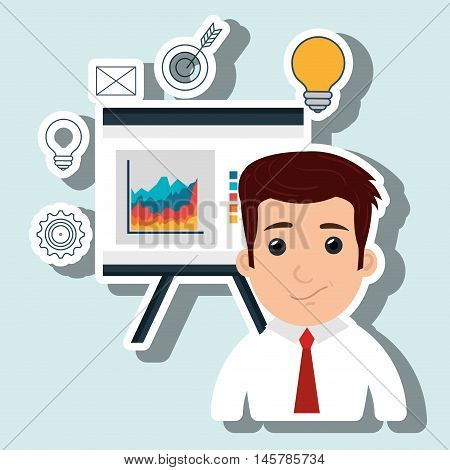 man board design icon vector illustration eps 10