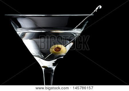 Vodka Martin Cocktails On Black Background
