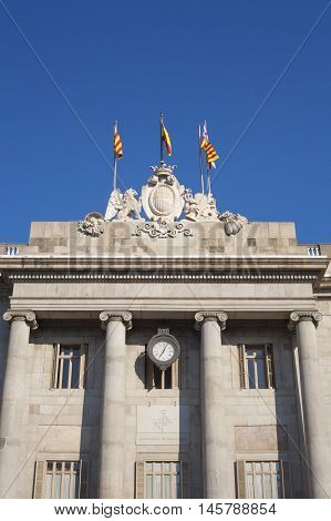 Casa de la Ciutat or Town Hall building of Barcelona Spain
