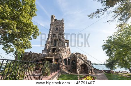 Boldt Castle in the summer season on the St. Lawrence Seaway