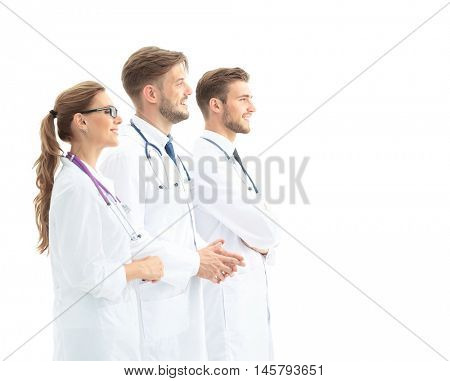A group of the young successful doctors