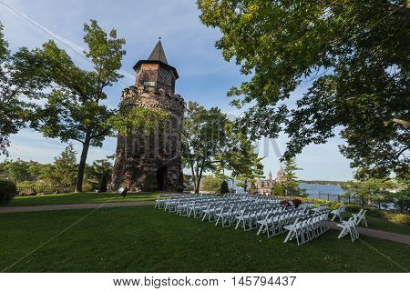 Boldt Castle on a cool summer day