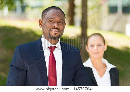 Portrait of an african businessman