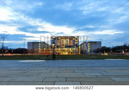 Berlin Germany - November 10 2010: Bundeskanzleramt (Federal German Chancellery). The residence of the Chancellor of Germany.