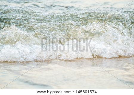 Water hitting the shores of Romania in Constanta