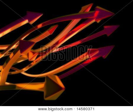 Abstract Orange Arrows