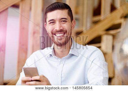 Young man in offfice